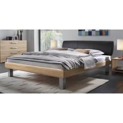 Hasena Soft Line Bett Noble Kopfteil Elipsa Füße Mico alu 140x200