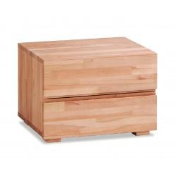 HASENA Woodline Nachttisch Dupla Kernbuche natur 2 Schubladen