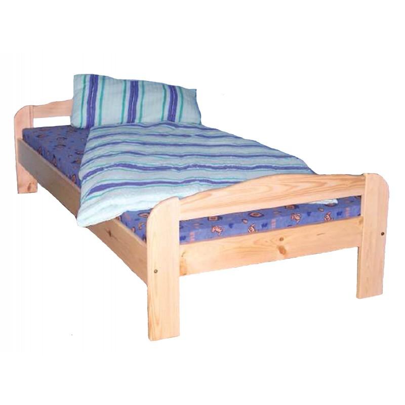 massivholzbett 100x200 in kiefer natur lackiert. Black Bedroom Furniture Sets. Home Design Ideas