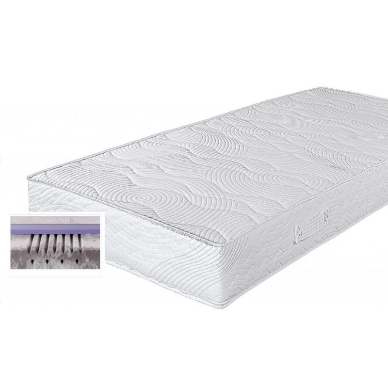 gelmatratze mit gelschaumauflage 21 cm hoch 90x200 cm. Black Bedroom Furniture Sets. Home Design Ideas