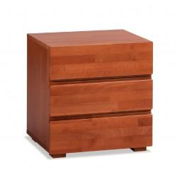 HASENA Woodline Nachttisch Treva Buche kirschbaumfarbig 3 Schubladen