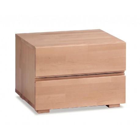HASENA Woodline Nachttisch Dupla Buche natur 2 Schubladen