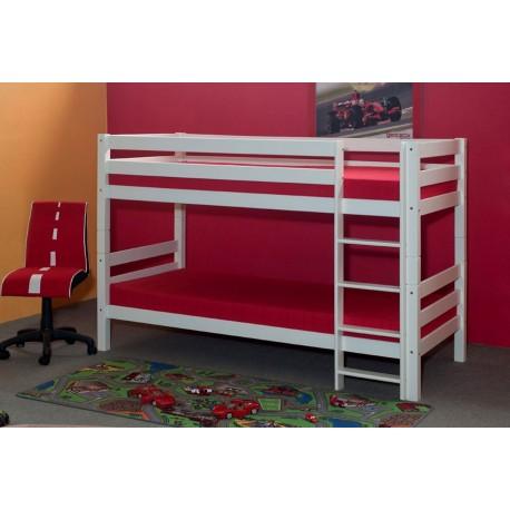 etagenbett und hochbett buche massiv wei 90x200 cm. Black Bedroom Furniture Sets. Home Design Ideas