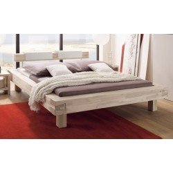 HASENA Bett Pescara Akazie gebürstet lackiert 25cm Füße 180x220