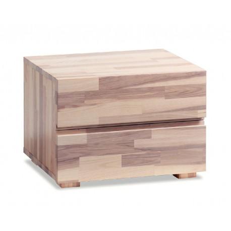 HASENA Woodline Nachttisch Dupla Kernesche natur 2 Schubladen