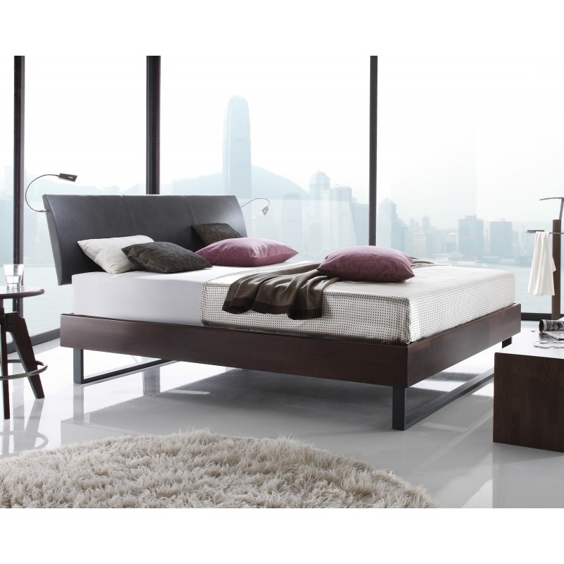 hasena wood line bett premium 18 buche schoko kopfteil. Black Bedroom Furniture Sets. Home Design Ideas