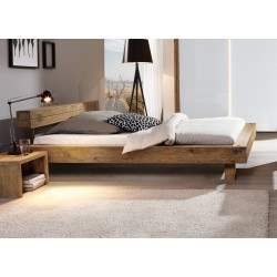 HASENA Oak Wild vintage Bett Bloc 16 Kopfteil Inca Füße Ivio 200x200