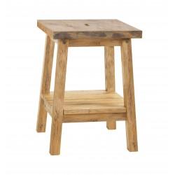 HASENA Oak Wild vintage Nachttisch und Hocker Ludo Wildeiche