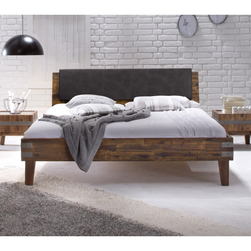 hasena factory line bett mit kopfteil vintage brown 180x200 cm. Black Bedroom Furniture Sets. Home Design Ideas