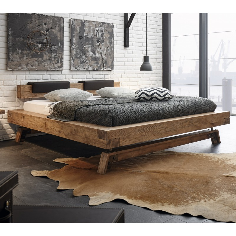 Hasena Oak Wild Vintage Bett Bloc 16 Mit Fusskufen Stabil 140x200 Cm