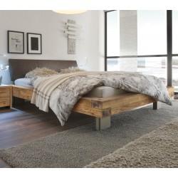 HASENA Oak Wild vintage Bett Bloc 16 Kopfteil Ripo Metallfüße 140x200
