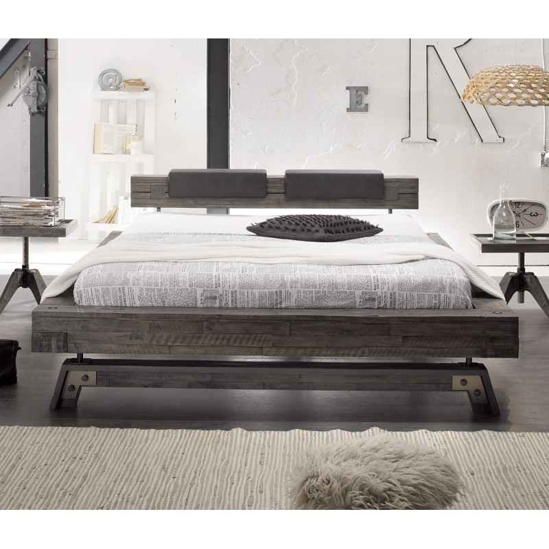hasena factory line bettgestell akazie vintage grey 140x200 cm. Black Bedroom Furniture Sets. Home Design Ideas