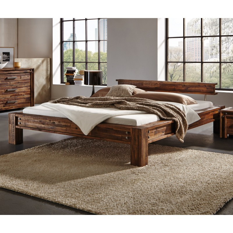 hasena factory line bett san luca 140x200 cm vintage brown 140x200 cm. Black Bedroom Furniture Sets. Home Design Ideas