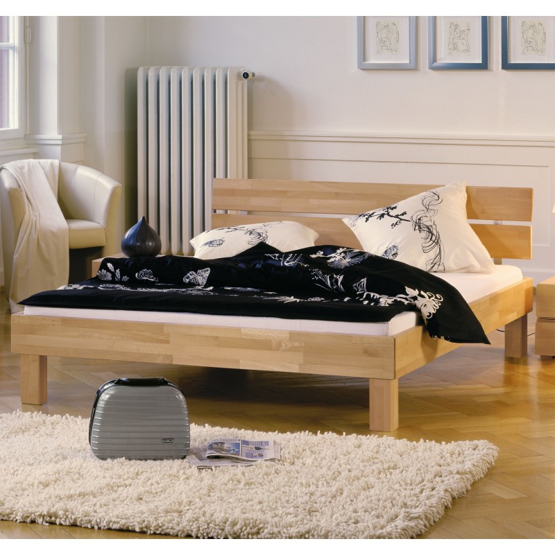 Hasena Wood Line Bett mit Kopfteil Duo Füße Cantu 120x200 cm