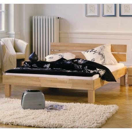 HASENA Bett Wood Line Buche natur Kopf Duo Füße Cantu 200x200