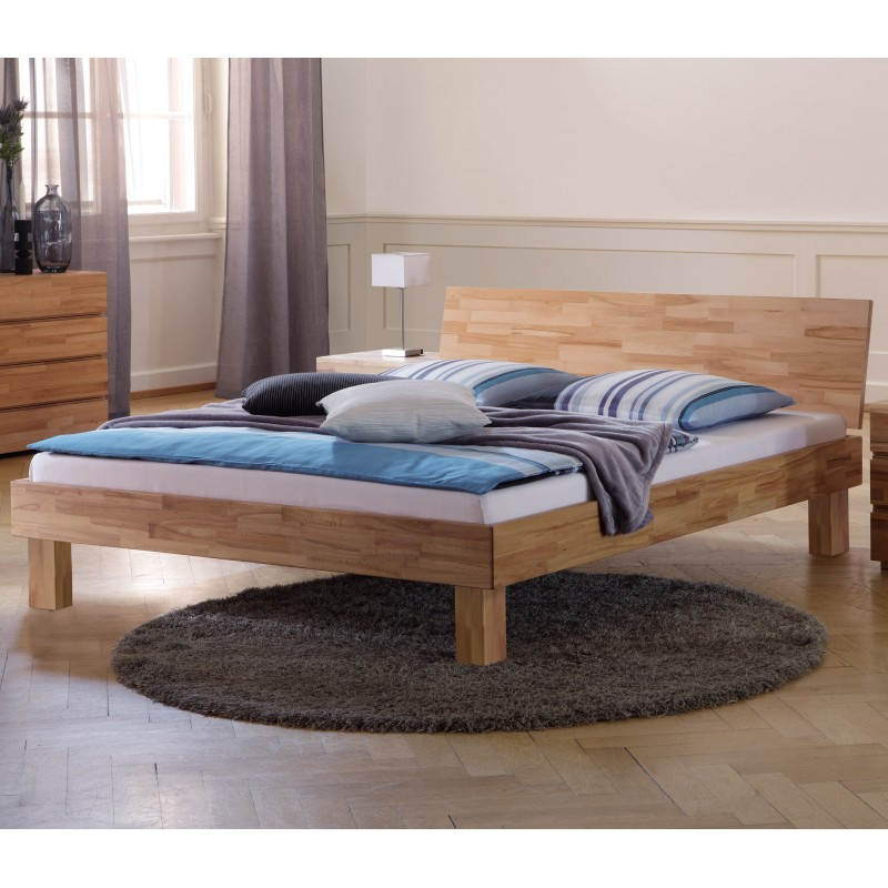 hasena wood line bett kernbuche natur ge lt kopfteil varus 200x200 cm. Black Bedroom Furniture Sets. Home Design Ideas