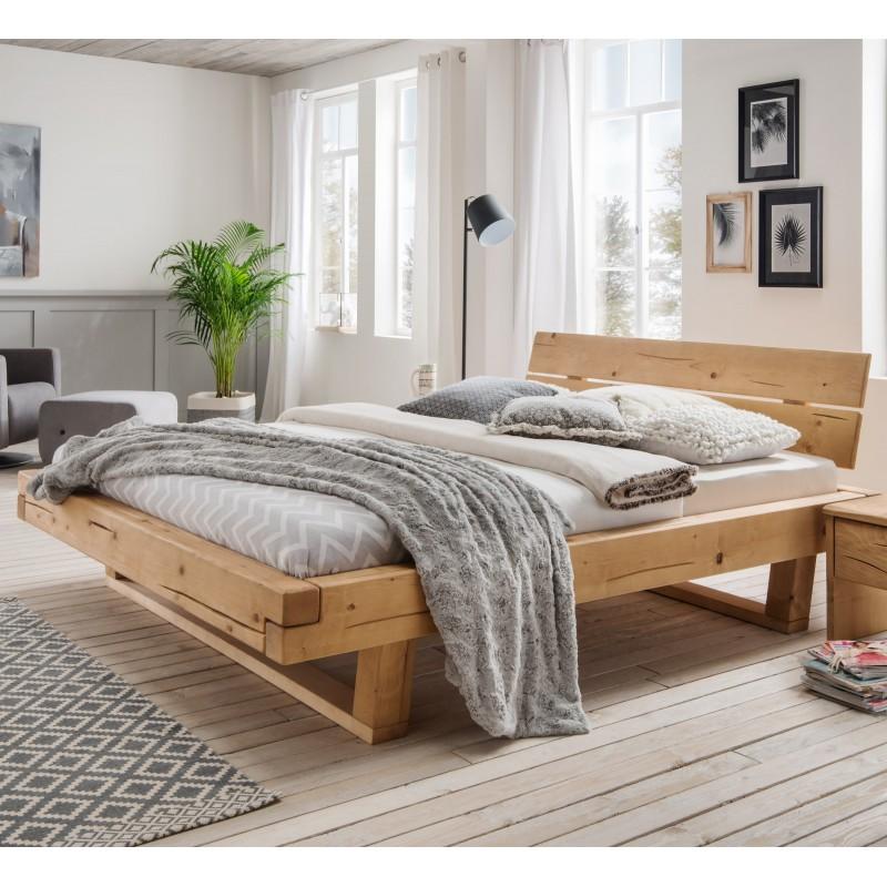 balkenbett fichte massiv mit kopfteil 200x200 cm. Black Bedroom Furniture Sets. Home Design Ideas