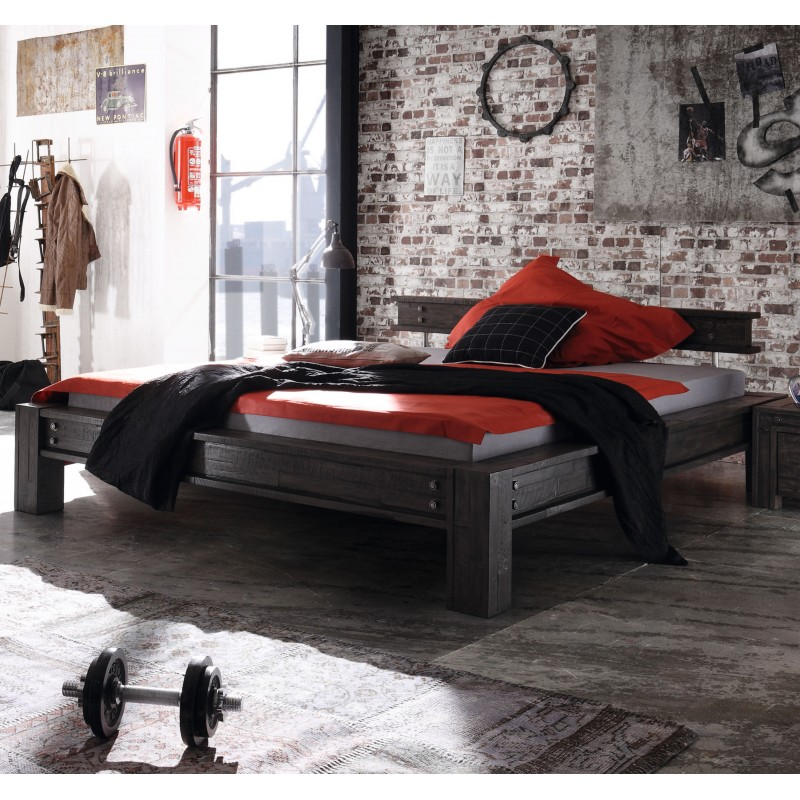 hasena san luca factory line vintage grey bettgestell 140x200 cm. Black Bedroom Furniture Sets. Home Design Ideas