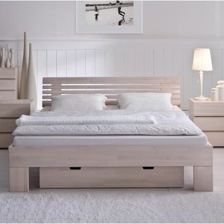 Hasena Wood Line Bett Kopfteil Litto Füße Massa Buche Weiß 200x220 Cm