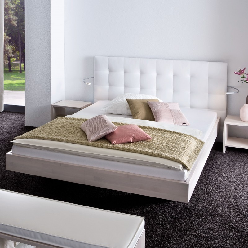 hasena massivholzbett mit paneel buche wei 200x200 cm doppelbett. Black Bedroom Furniture Sets. Home Design Ideas