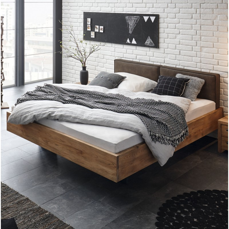 hasena oak wild vintage bett mit schwebeoptik 140x200 cm. Black Bedroom Furniture Sets. Home Design Ideas