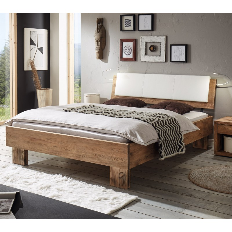 hasena oak wild vintage bett mit polster ravo blanc 140x200 cm. Black Bedroom Furniture Sets. Home Design Ideas
