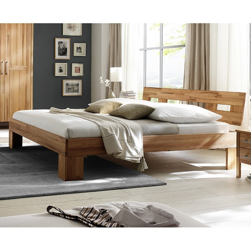 doppelbetten und betten in buche natur mit kopfteil 200x200 cm. Black Bedroom Furniture Sets. Home Design Ideas