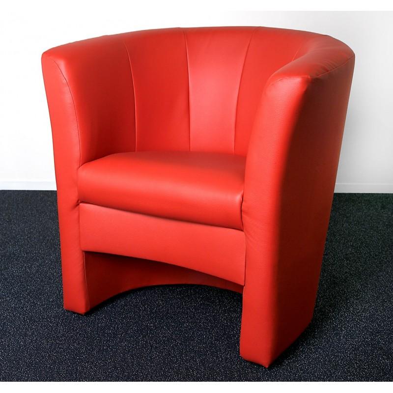 cocktailsessel in kunstleder rot mit komfortabler polsterung. Black Bedroom Furniture Sets. Home Design Ideas
