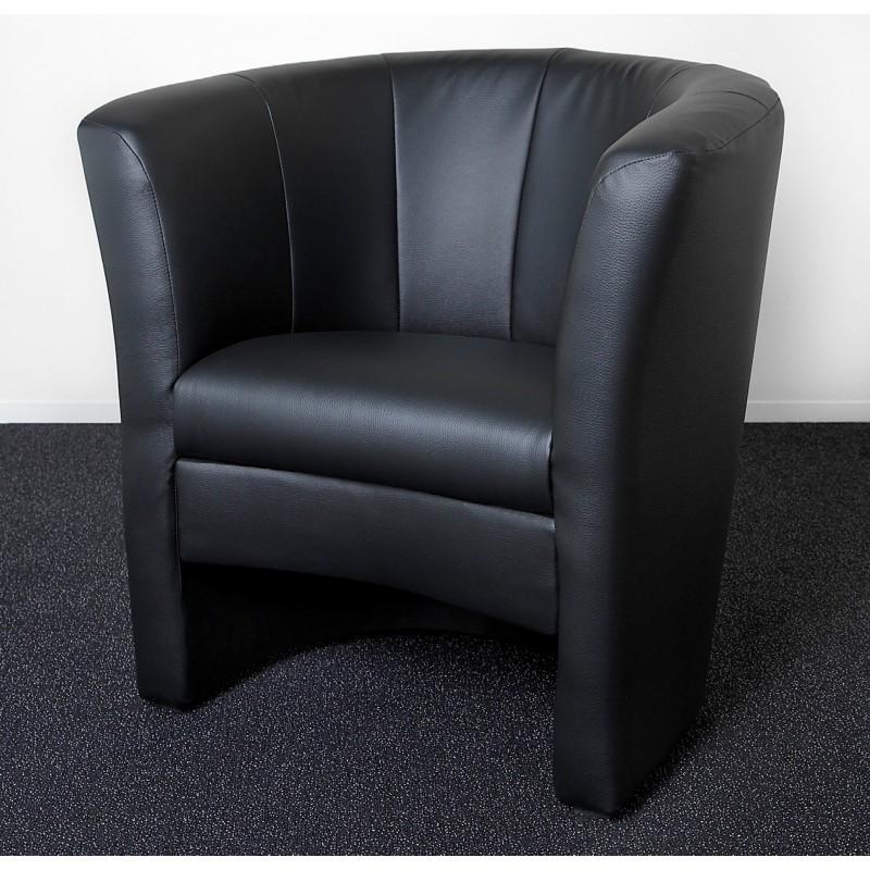 cocktailsessel kunstleder schwarz mit komfortabler polsterung. Black Bedroom Furniture Sets. Home Design Ideas