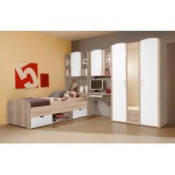 Kinderzimmer Jugendzimmer mit Schrank Schreibtisch Bett