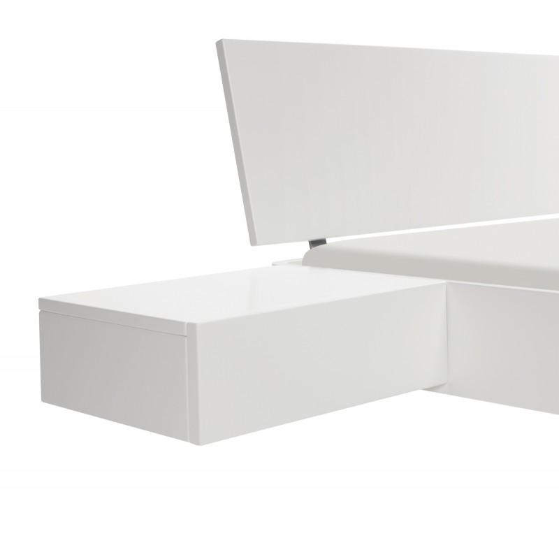 hasena fine line nachttisch caja buche wei deckend lackiert. Black Bedroom Furniture Sets. Home Design Ideas
