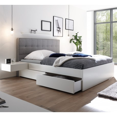hasena bettkastenbett buche wei deckend massivholz bett 180x200 cm. Black Bedroom Furniture Sets. Home Design Ideas