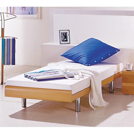 HASENA Einzelbett Gästebett Econom Buche Dekor Füße chrom 90x200