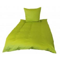 Premium Mako Satin Bettwäsche Uni apfelgrün 155x200
