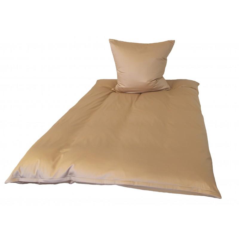 Babybettwäsche Aus Baumwolle In Beige Mit Reißverschluss 100x135 Cm