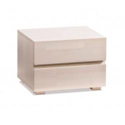 HASENA Woodline Nachttisch Dupla Buche weiß 2 Schubladen