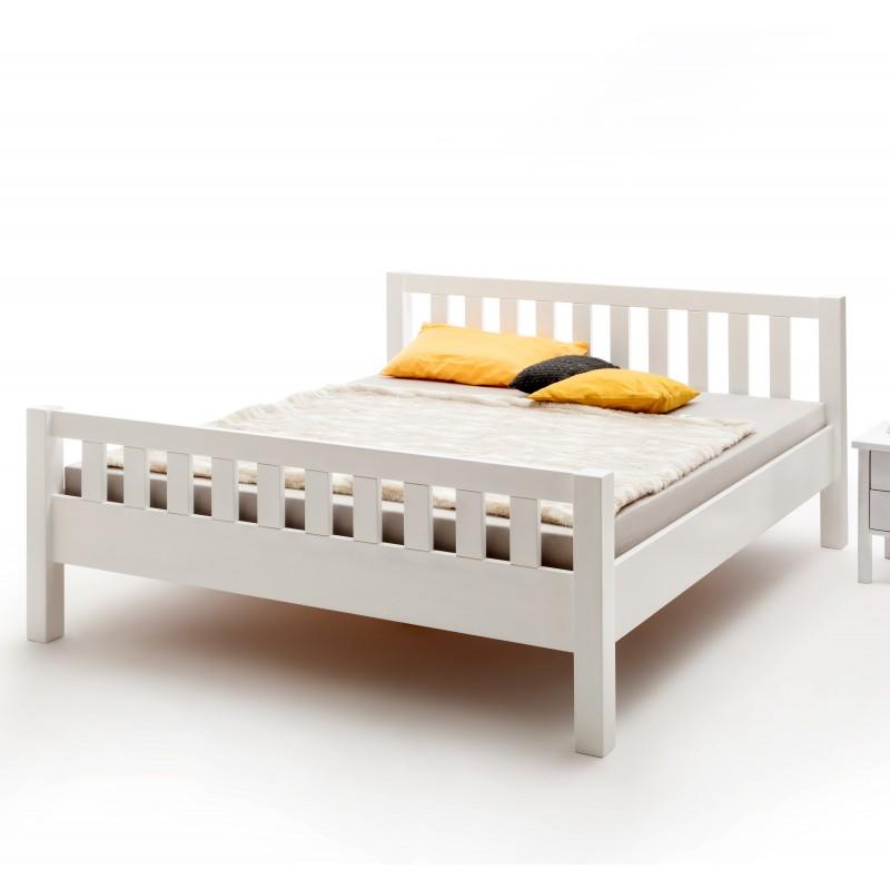 doppelbett wei lackiert buche massivholz kopf und fu teil 180x200 cm. Black Bedroom Furniture Sets. Home Design Ideas