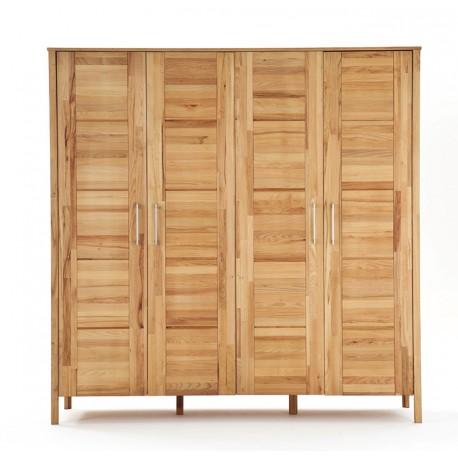 massivholz kleiderschrank lara kernbuche mit vier t ren. Black Bedroom Furniture Sets. Home Design Ideas