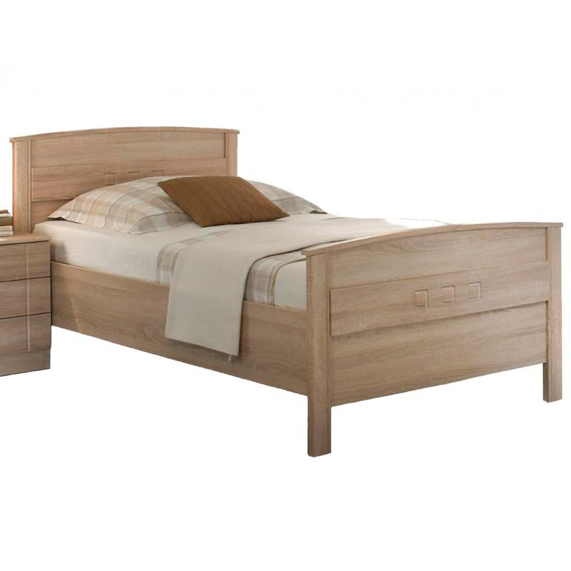 seniorenbett und komfortbett h henverstellbar eiche dekor 100x200 cm. Black Bedroom Furniture Sets. Home Design Ideas