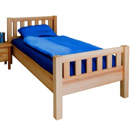 Komfortbett Seniorenbett Kopf- und Fußteil Kernbuche massiv
