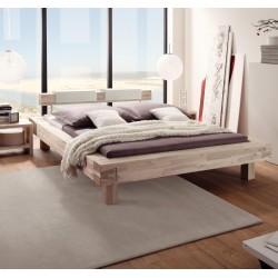 HASENA Bett Pescara Akazie gebürstet lackiert 20cm Füße 180x220