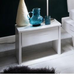 Nachttisch Elli Fichte Massivholz weiß lackiert