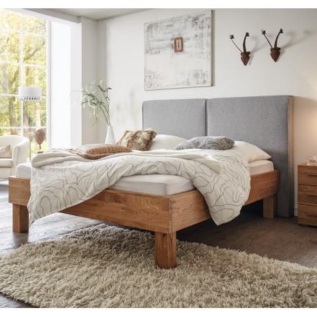 HASENA Oak Wild Bett Cadro 23 Füße Ivio 25 Wandpaneel Wildeiche natur 140x200