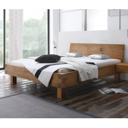 HASENA Oak Wild Bett Pilatus 23 Füße Ivio 20 mit Kopfteil Wildeiche natur 140x200 cm
