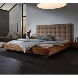HASENA Oak Wild Bett Aosta 16 Füße Ivio 10 Wandpaneel Sogno L, Casual sahara 330 140x200 cm