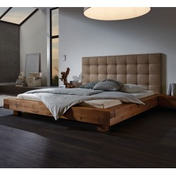 HASENA Oak Wild Bett Aosta 16 Füße Ivio 10 Wandpaneel Sogno L, Casual sahara 330 180x200 cm