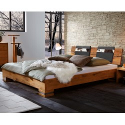 HASENA Oak Wild Bett Cadro 18 Füße Onito 10 Kopfteil Alpa 2er Set Kissen Sema 160x200 cm