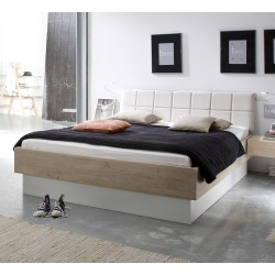 HASENA Modisches Holzbett Wildeiche weiß  Cadro 23 Practico Malta 140x200 cm