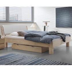 HASENA Oak Wild Stilvolles Bett Cadro 18 weiss gebürstet Ivio 20 cm Alpa mit Kissen Ravo 140x200 cm