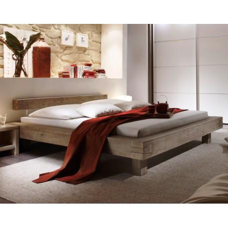 HASENA San Remo Akazie Balkenbett trüffel Füße 20 cm 160x200